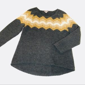 Thick wool swing cut sweater